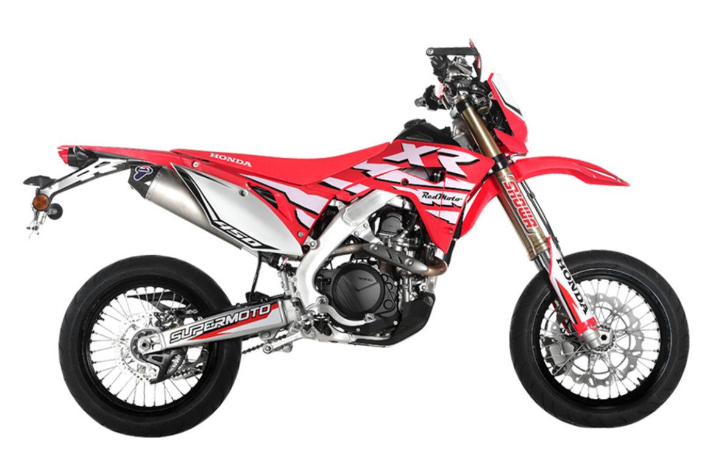 Honda Red Moto CRF 450XR Supermoto